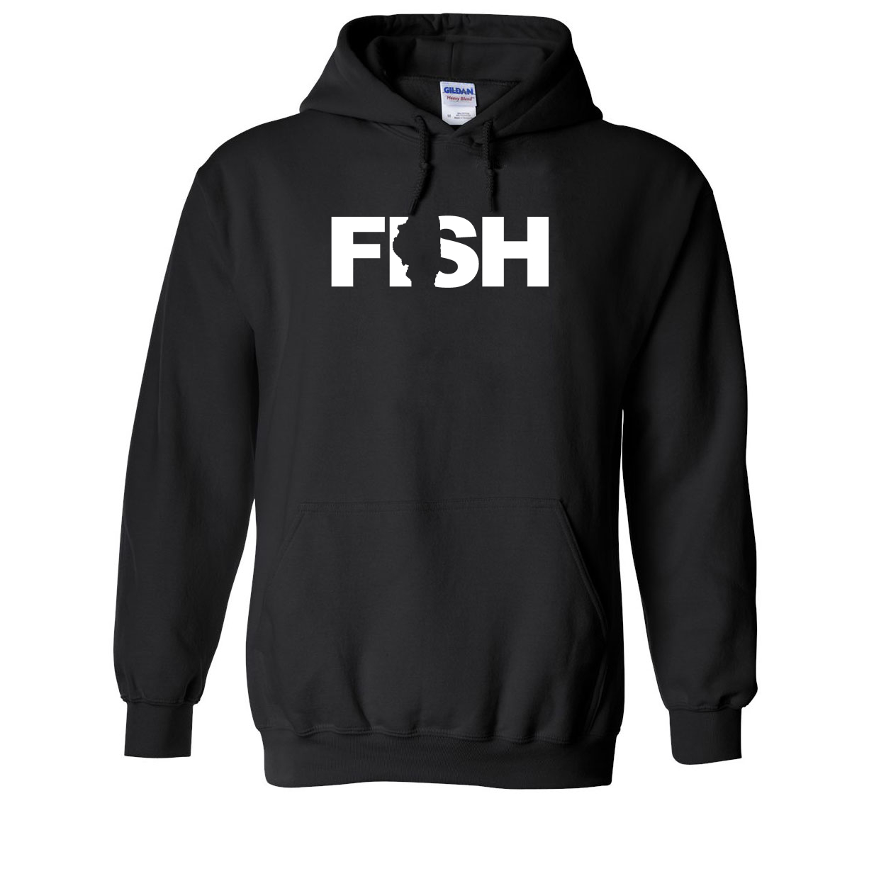 Fish Illinois Classic Sweatshirt Black (White Logo)