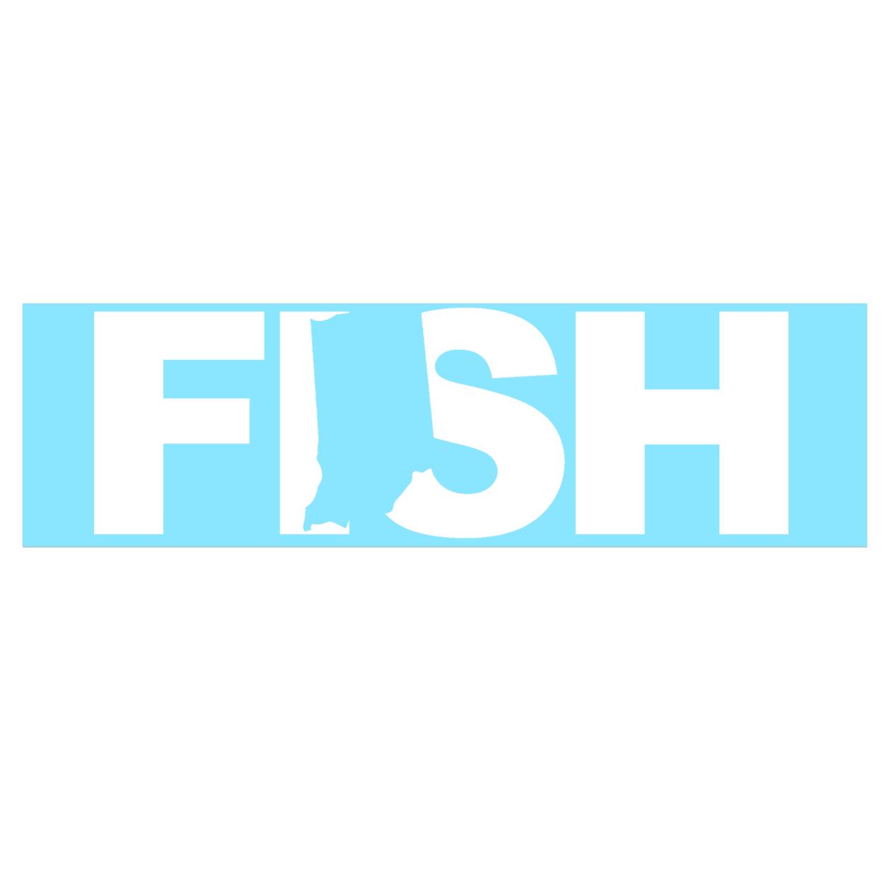 Fish Indiana Classic Decal (White Logo)