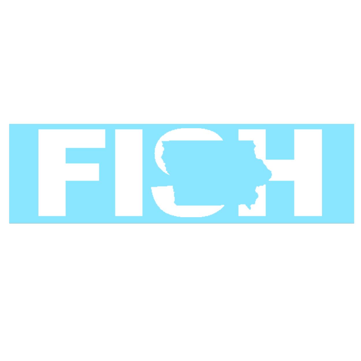 Fish Iowa Classic Decal (White Logo)