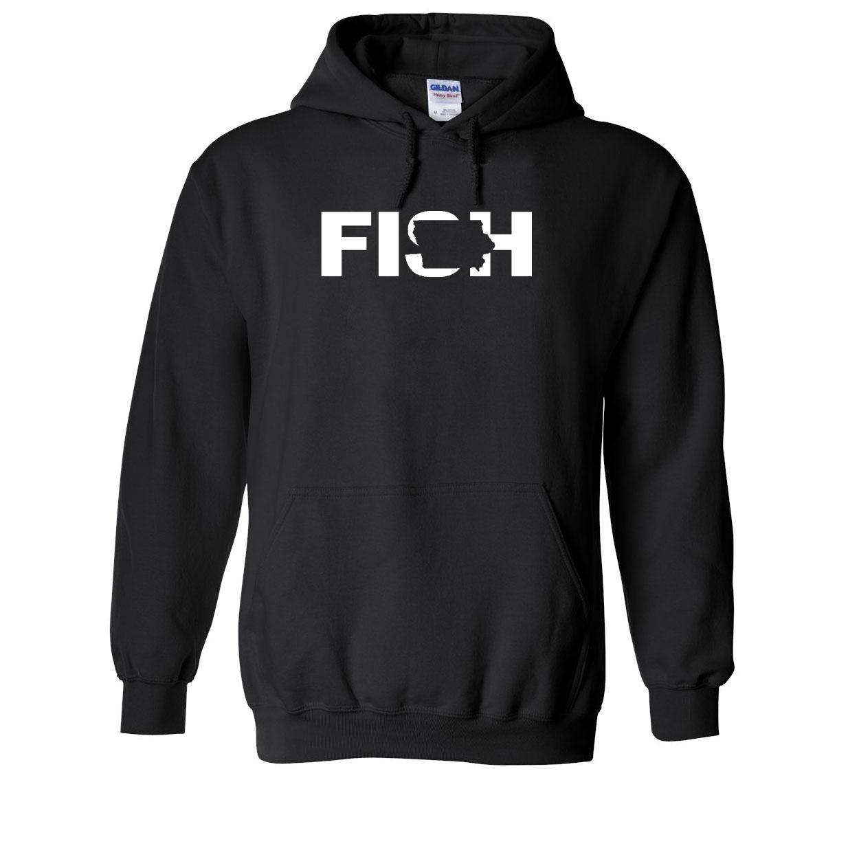 Fish Iowa Classic Sweatshirt Black (White Logo)