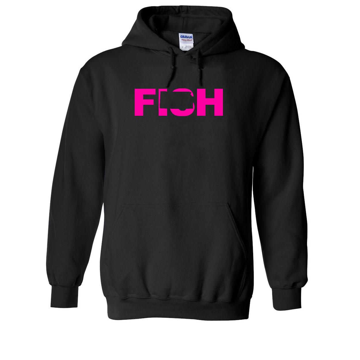 Fish Kansas Classic Sweatshirt Black (Pink Logo)