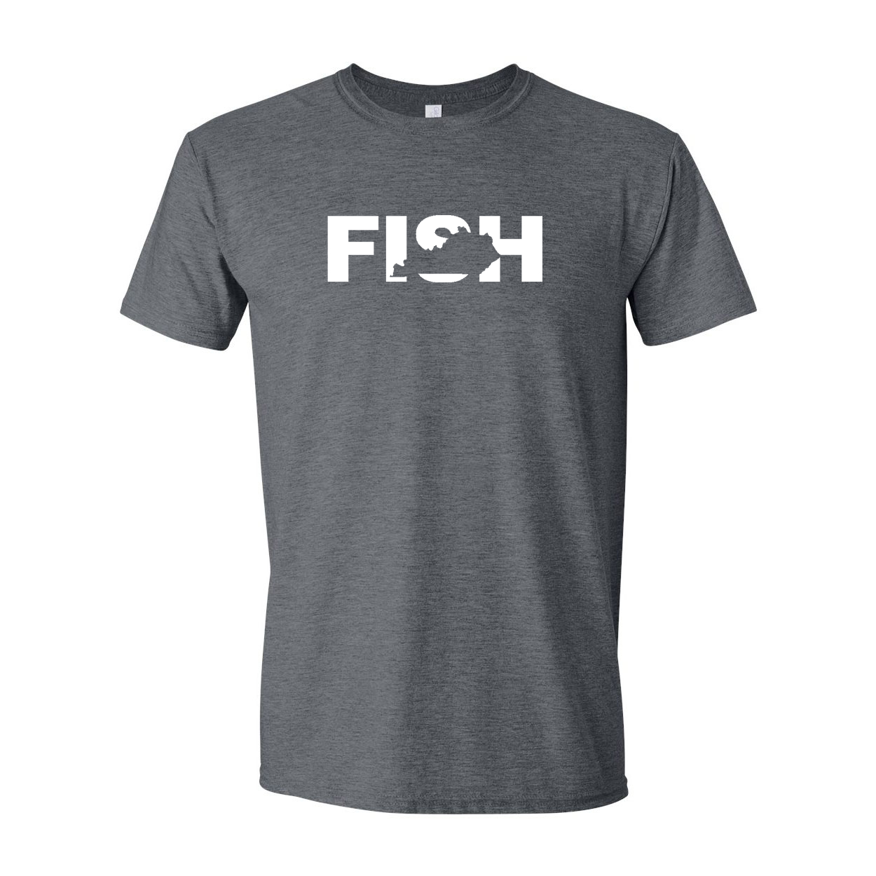 Fish Kentucky Classic T-Shirt Dark Heather Gray (White Logo)