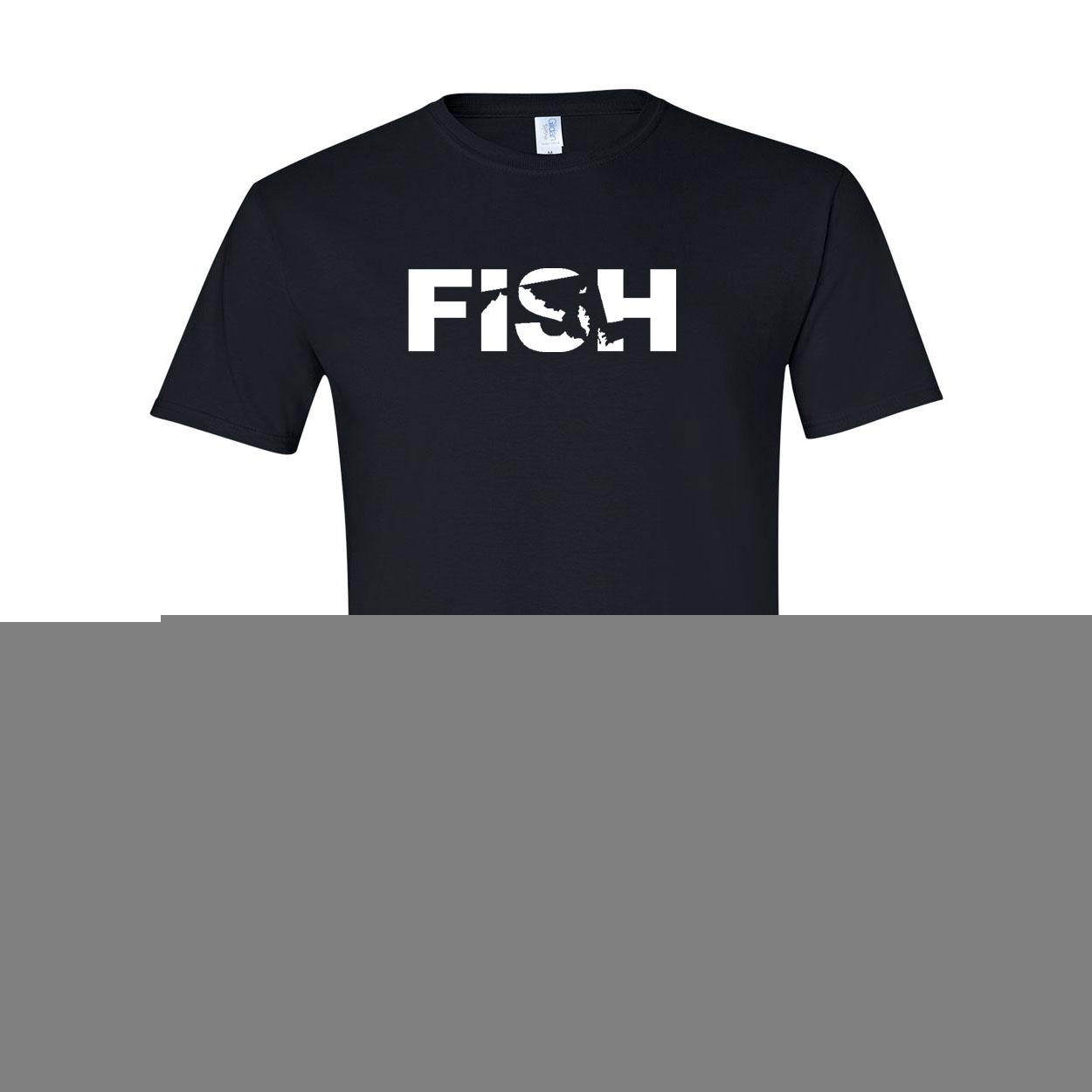 Fish Maryland Classic T-Shirt Black (White Logo)
