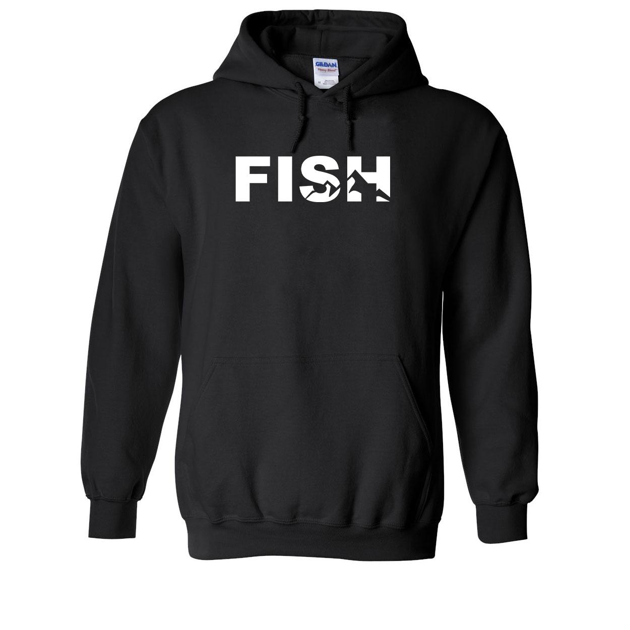 Fish Mountain Logo Classic Sweatshirt Black (White Logo)