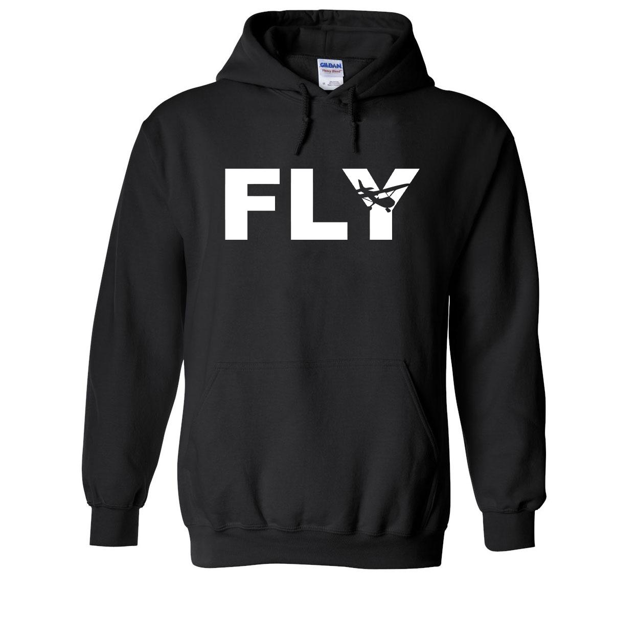 Fly Airplane Logo Classic Sweatshirt Black (White Logo)
