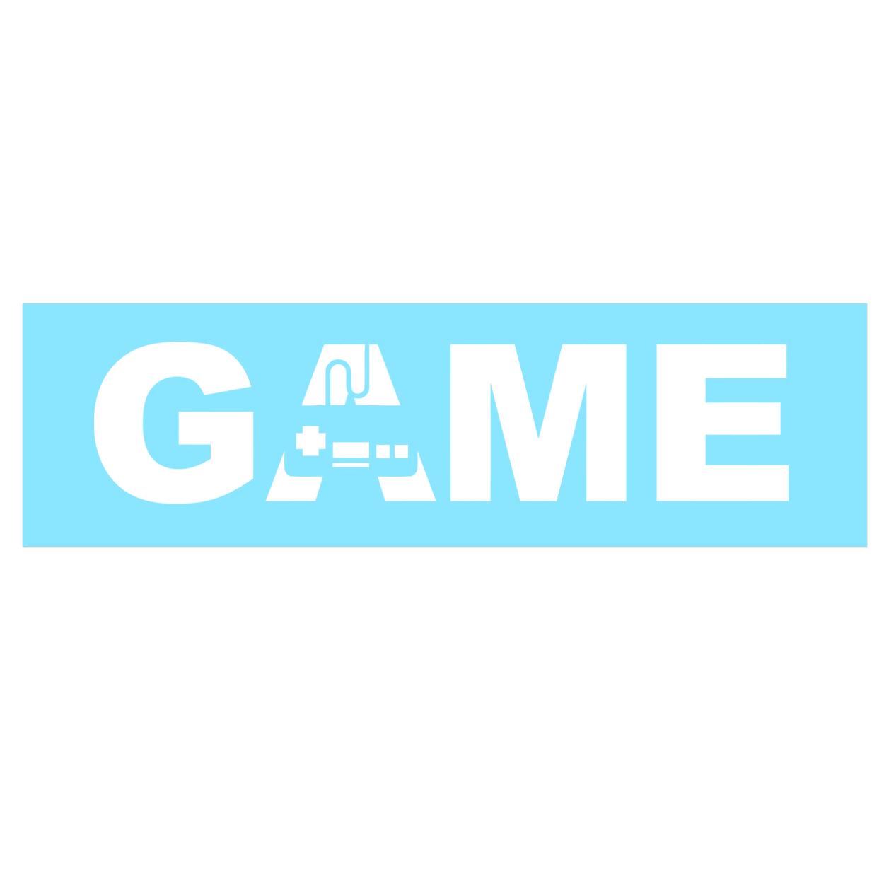 Game Controller Logo Classic Decal (White Logo)