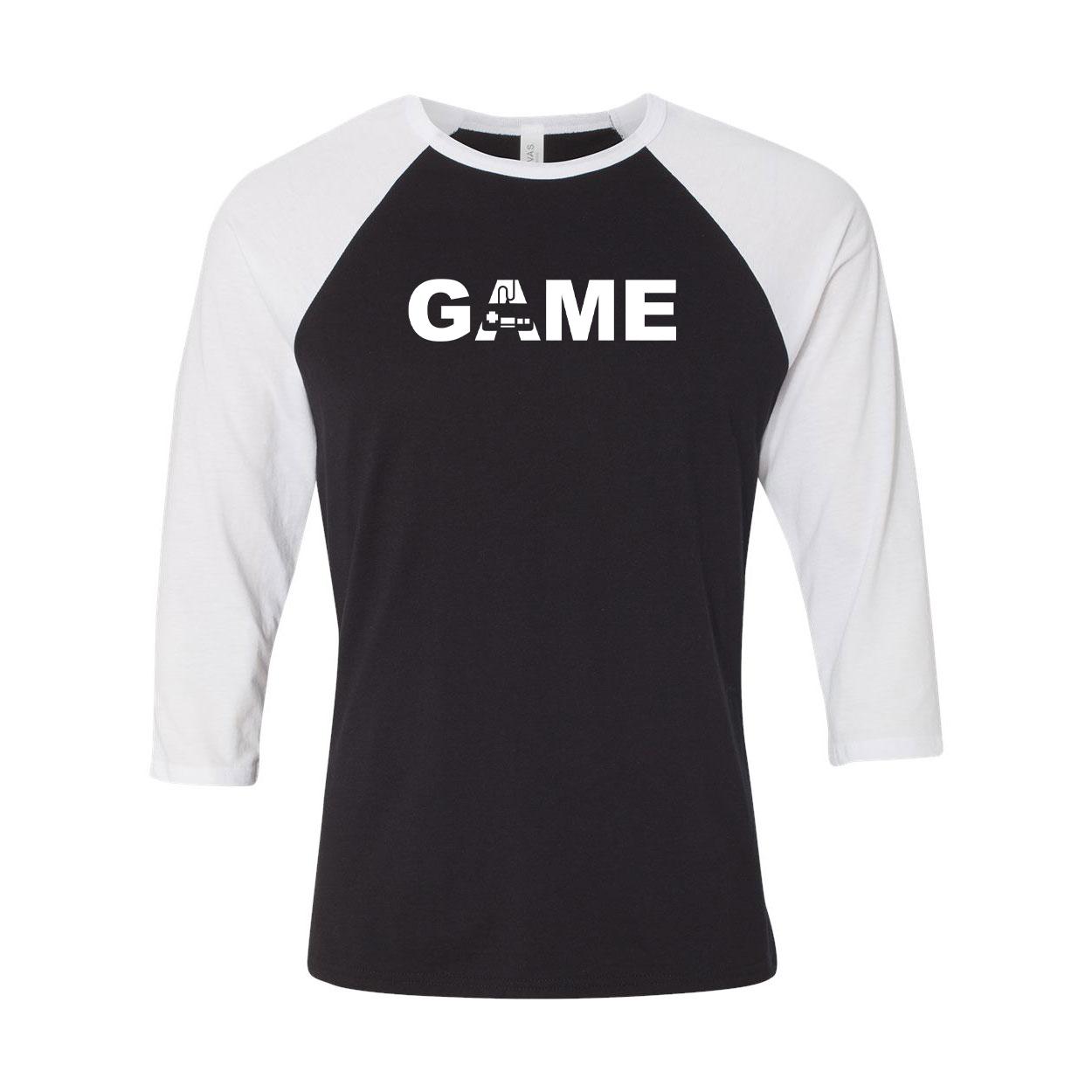 Game Controller Logo Classic Raglan Shirt Black/White (White Logo)