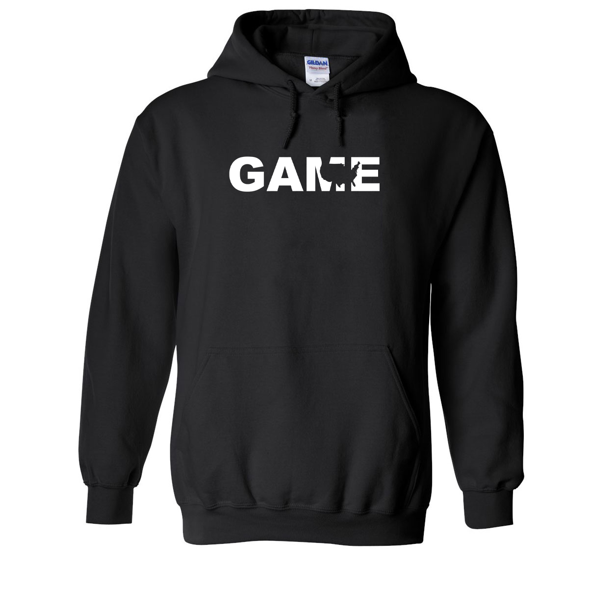 Game United States Classic Sweatshirt Black (White Logo)