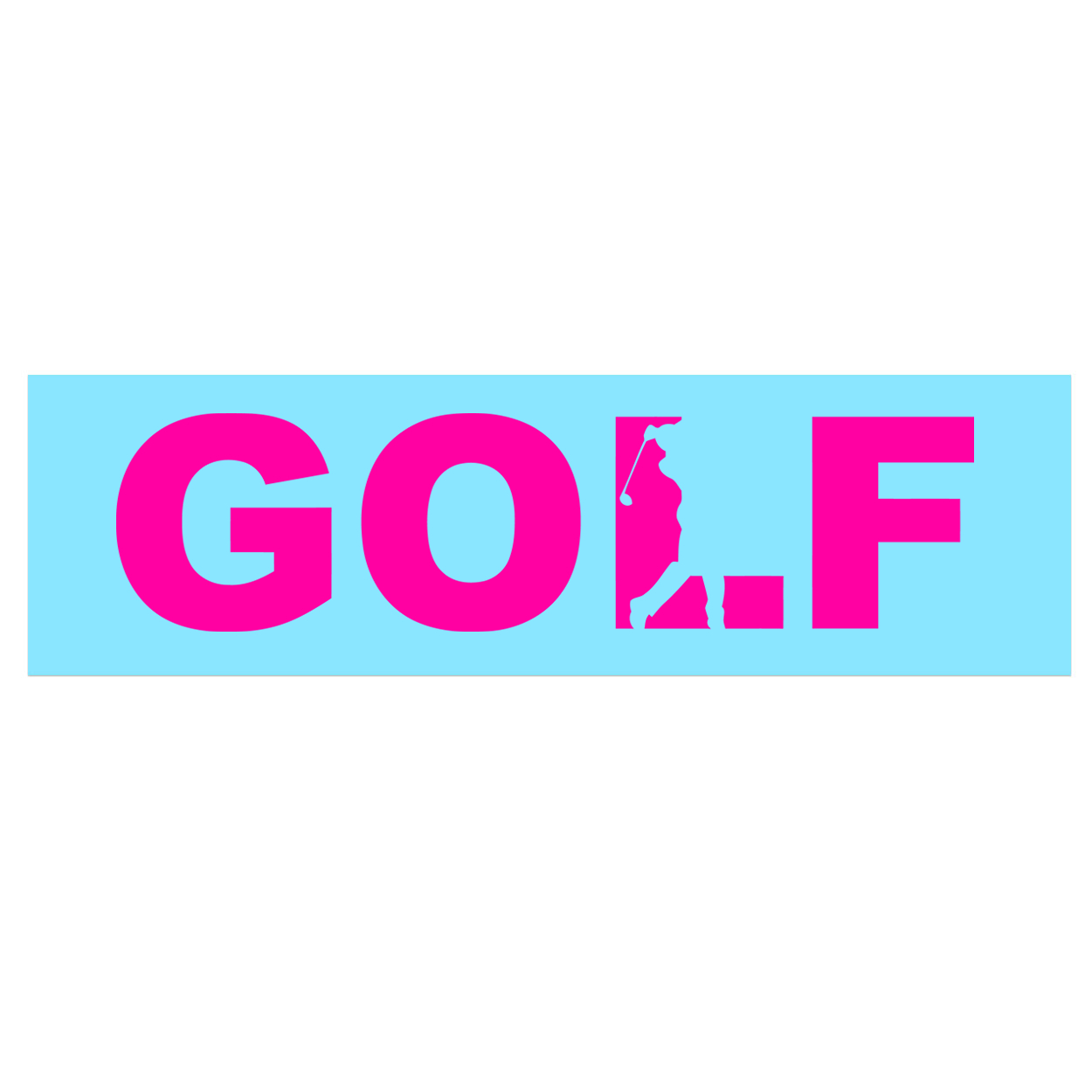 Golf Swing Logo Classic Decal (Pink Logo)