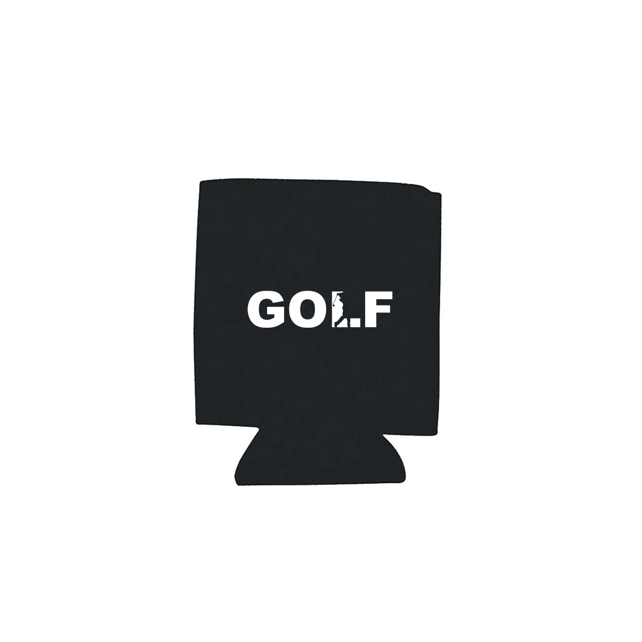 Golf Swing Logo Koozie Black (White Logo)