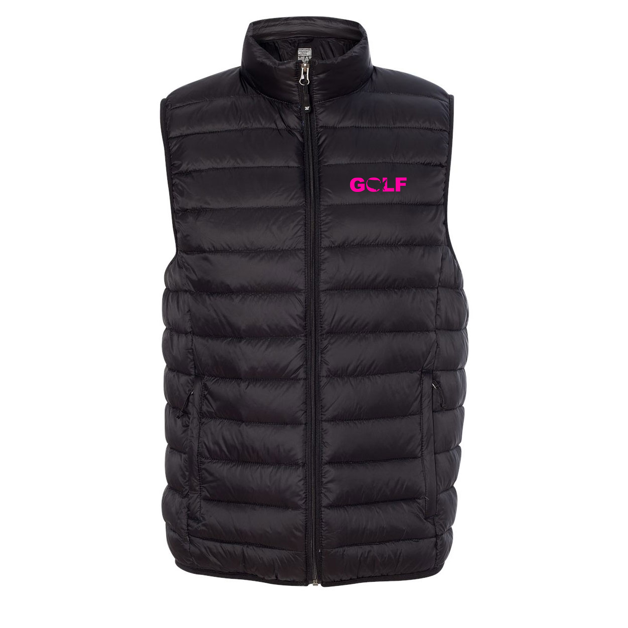 Golf United States Night Out Puff Down Jacket Vest Black (Pink Logo)