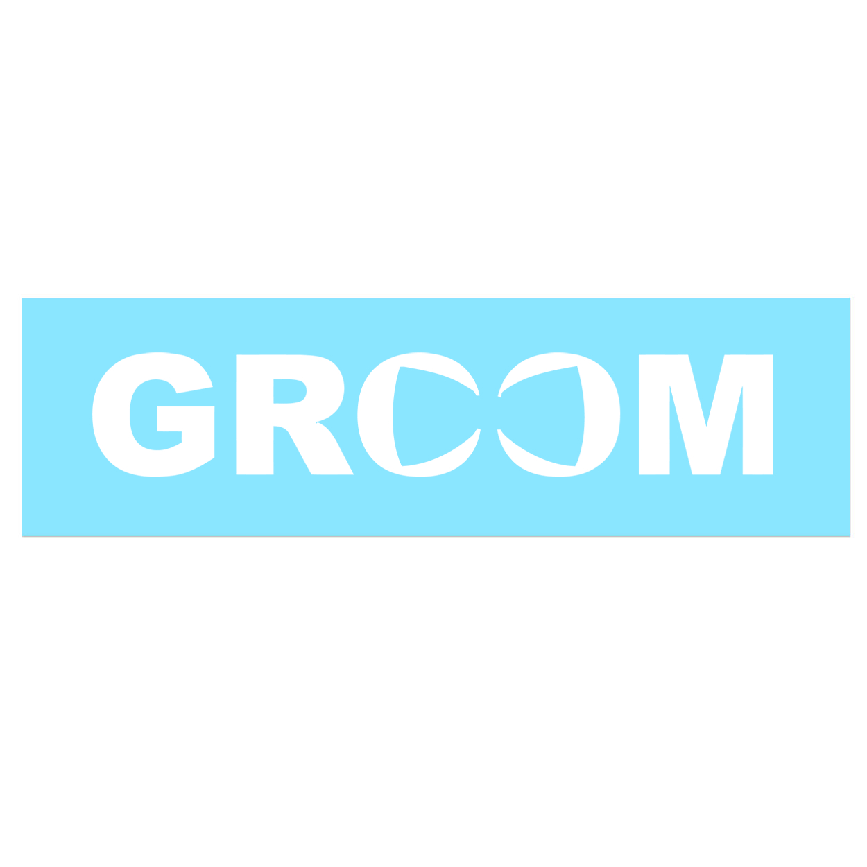 Groom Bow Tie Logo Classic Decal (White Logo)