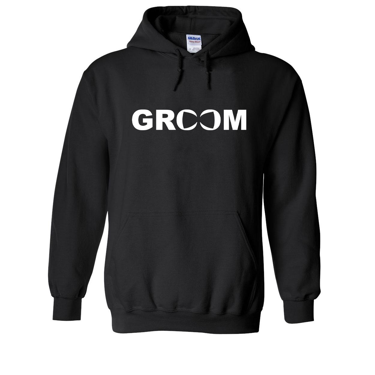 Groom Bow Tie Logo Classic Sweatshirt Black (White Logo)
