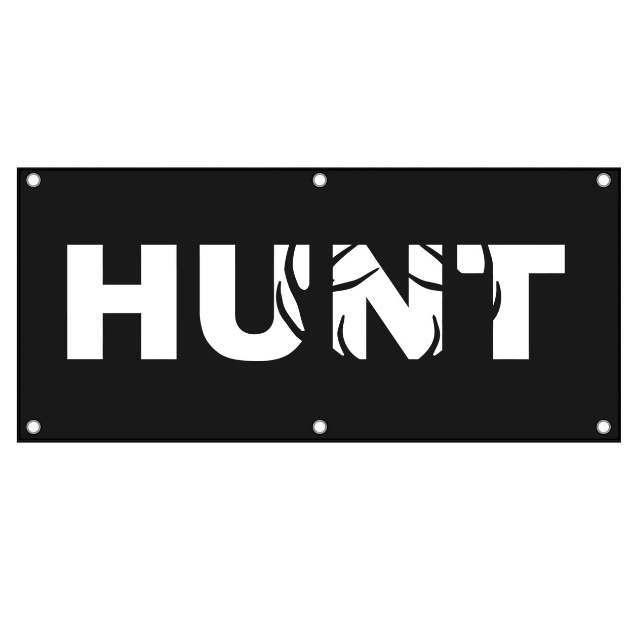 Hunt Rack Logo Classic Banner (White Logo)