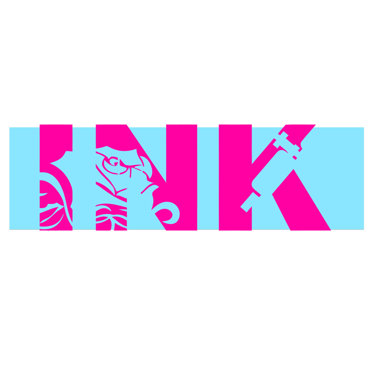 Ink Tattoo Logo Classic Decal (Pink Logo)