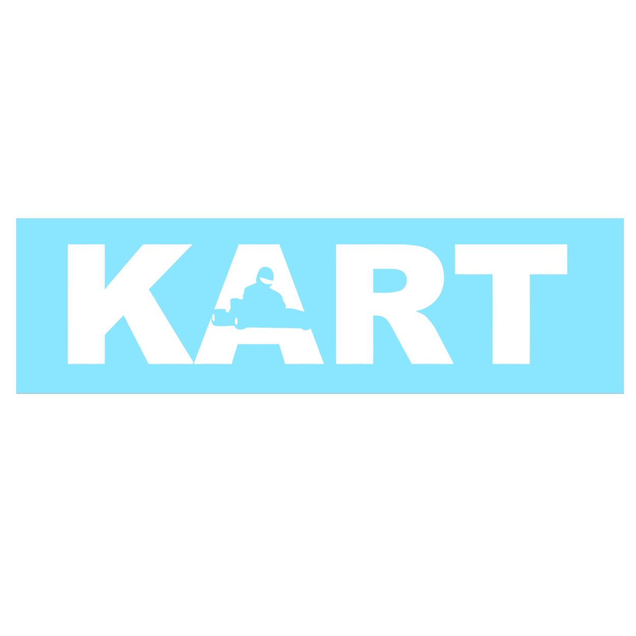Kart Racer Logo Classic Decal (White Logo)