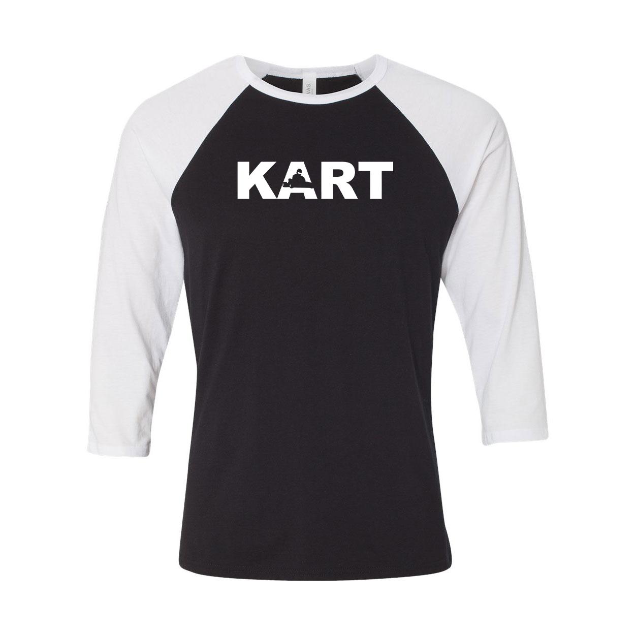 Kart Racer Logo Classic Raglan Shirt Black/White (White Logo)