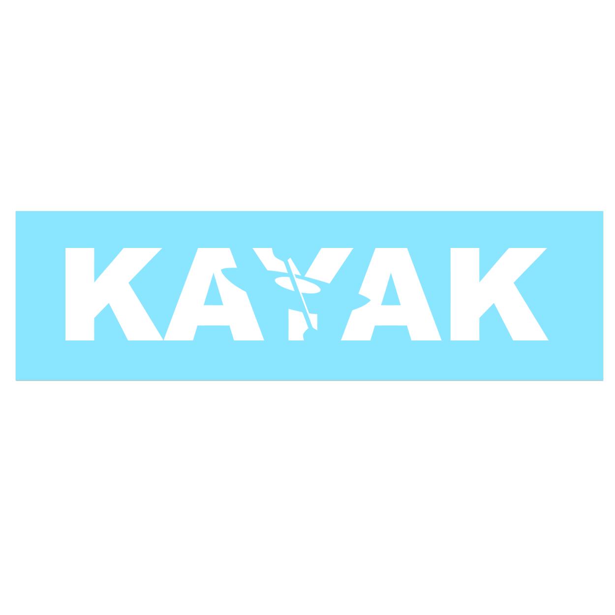 Kayak Hull Logo Classic Decal (White Logo)