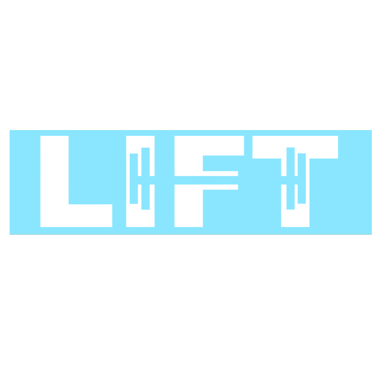Lift Barbell Logo Classic Decal (White Logo)