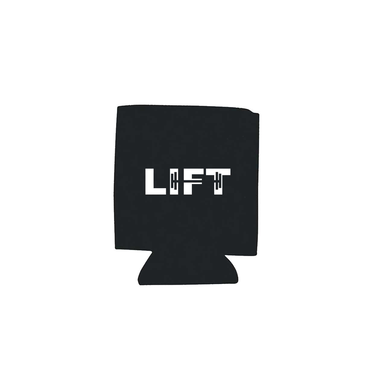 Lift Barbell Logo Koozie Black (White Logo)