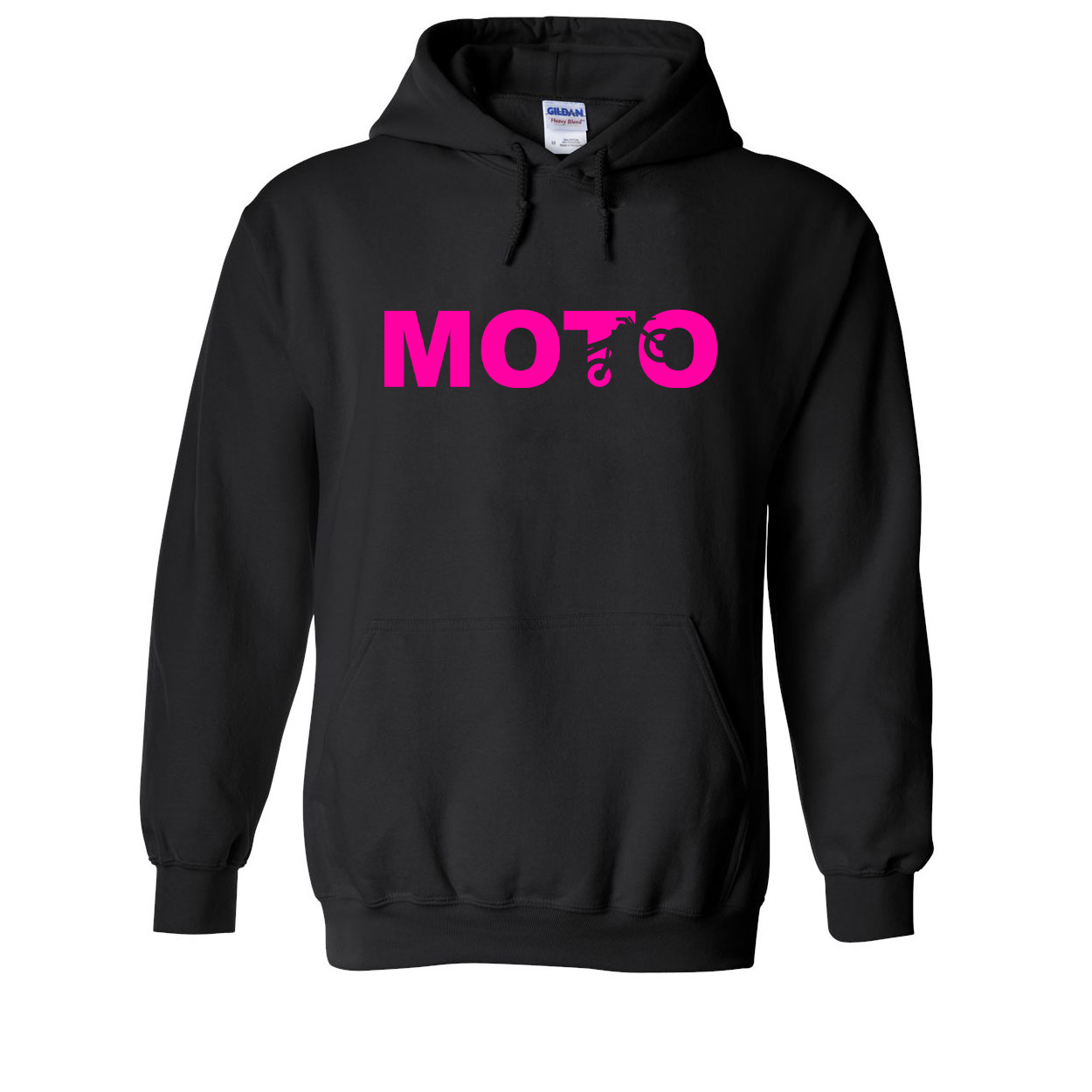 Moto Wheelie Logo Classic Sweatshirt Black (Pink Logo)
