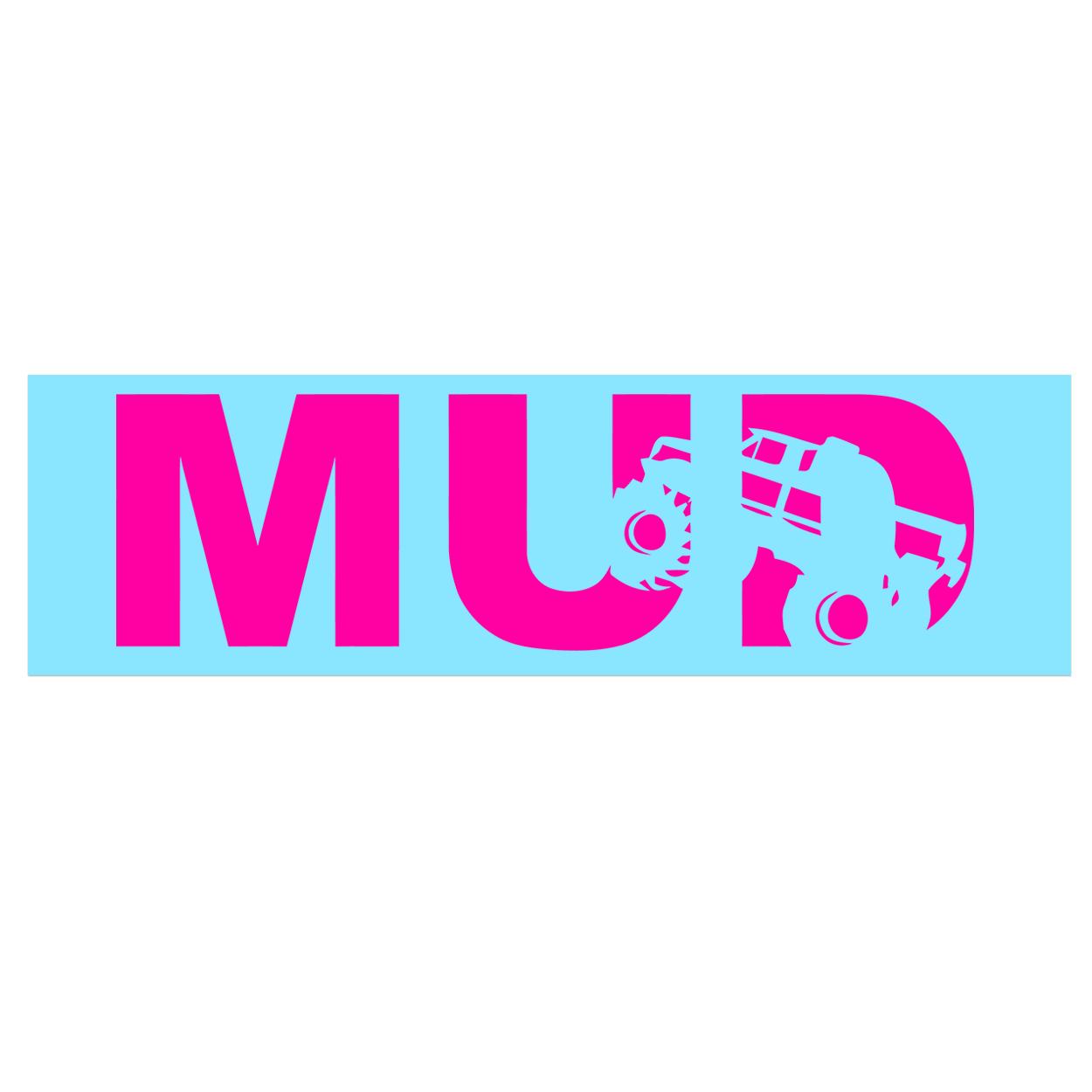 Mud Truck Logo Classic Decal (Pink Logo)