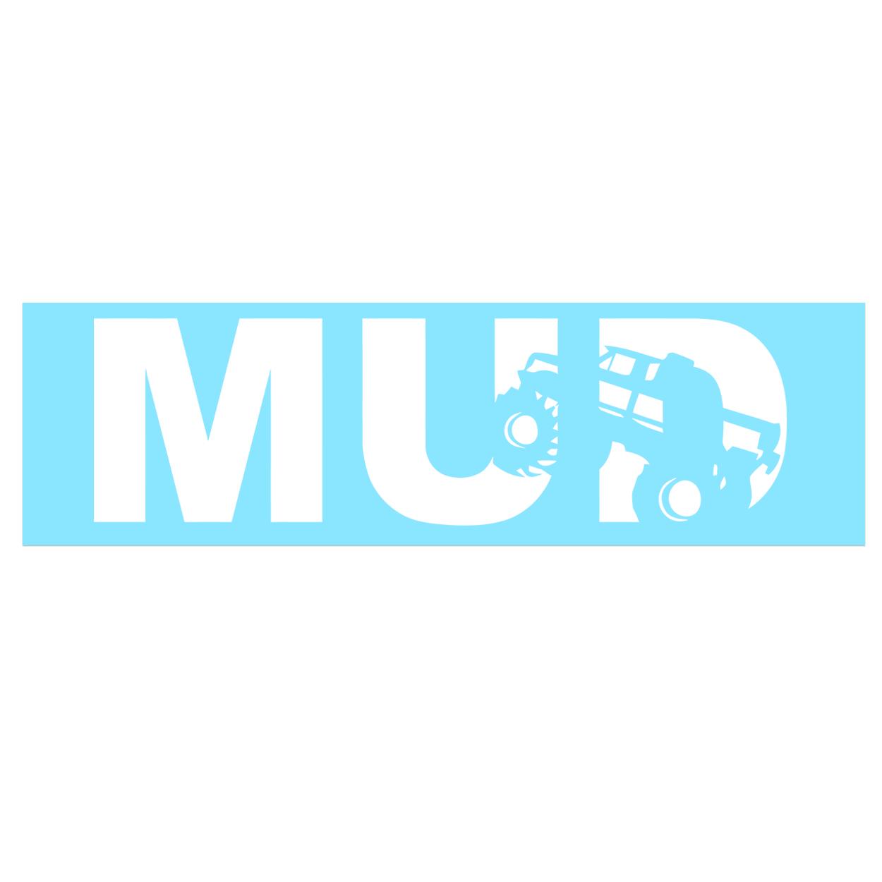 Mud Truck Logo Classic Decal (White Logo)