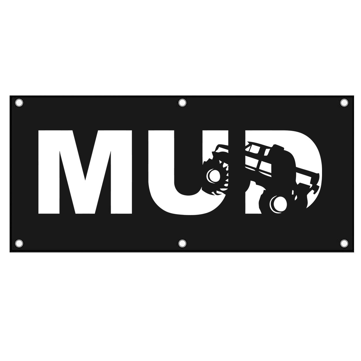 Mud Truck Logo Classic Banner (White Logo)