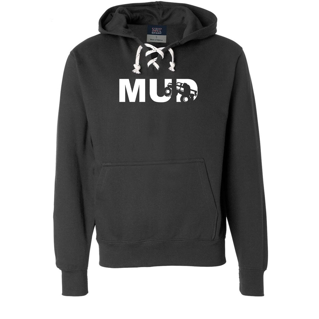Mud Truck Logo Classic Unisex Premium Hockey Sweatshirt Black (White Logo)