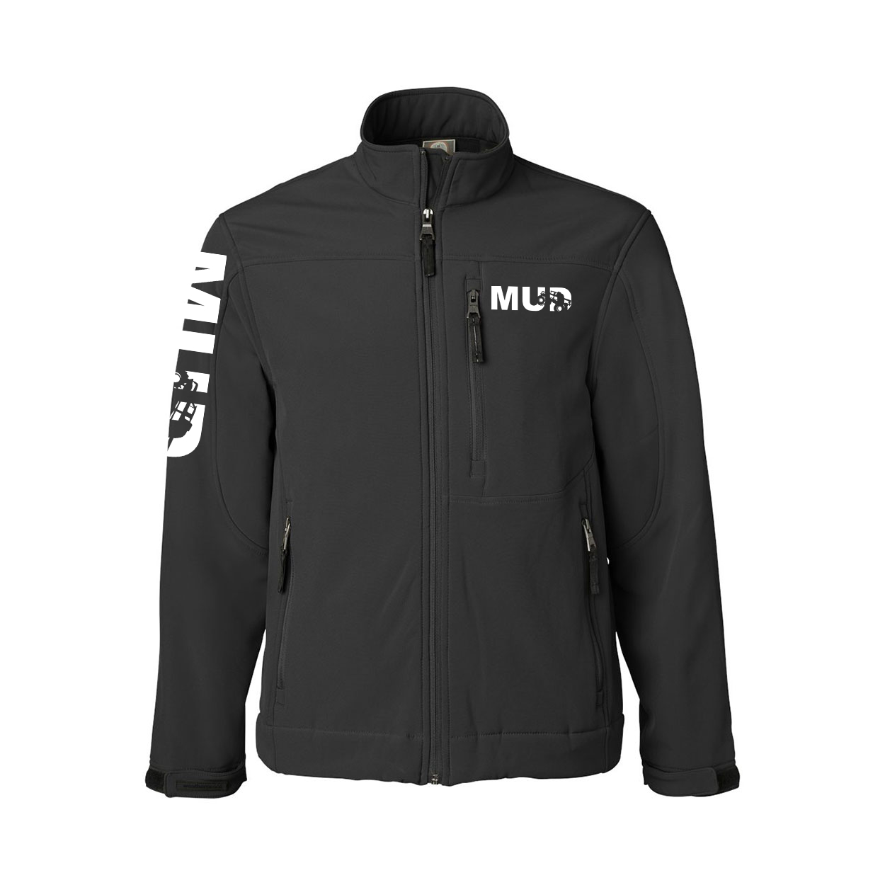 Mud Truck Logo Classic Soft Shell Weatherproof Jacket (White Logo)