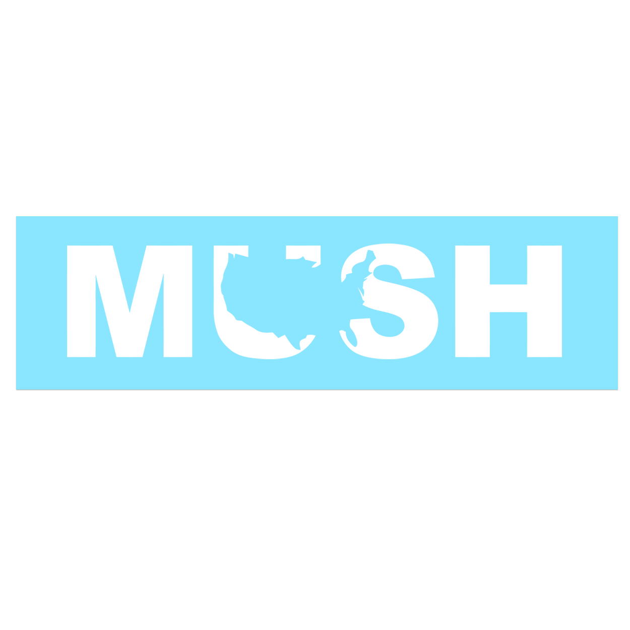 Mush United States Classic Decal (White Logo)