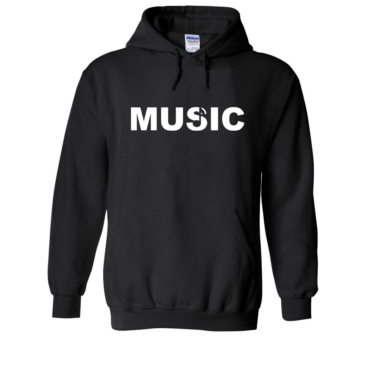 Music Note Logo Classic Sweatshirt Black (White Logo)