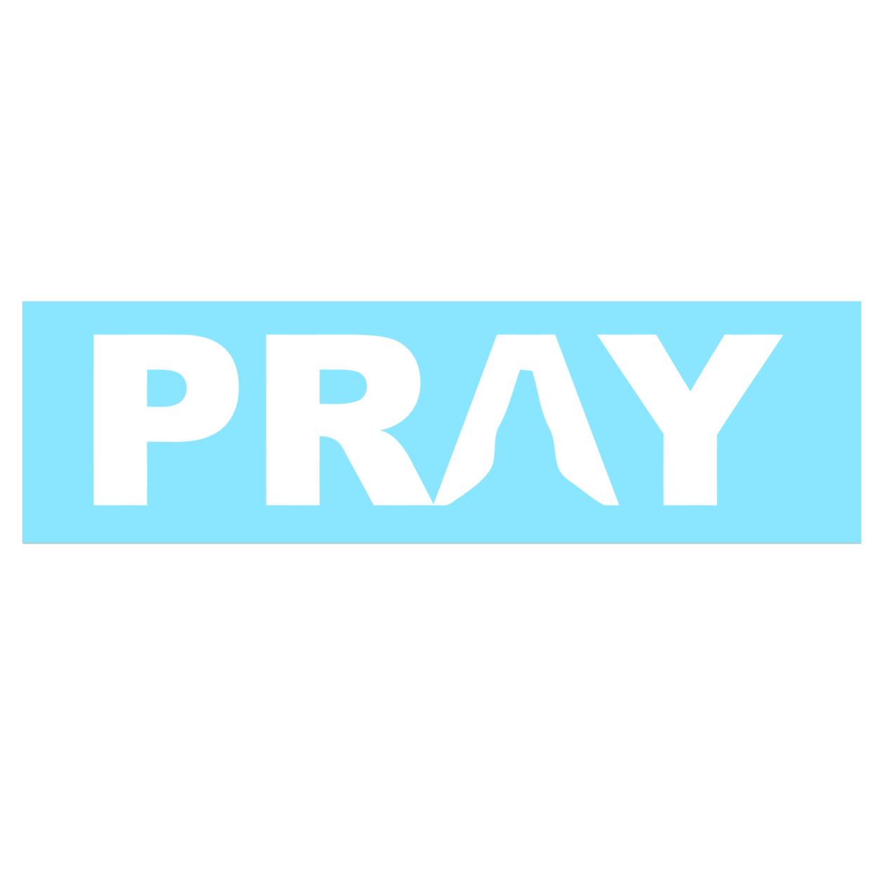 Pray Hands Logo Classic Decal (White Logo)