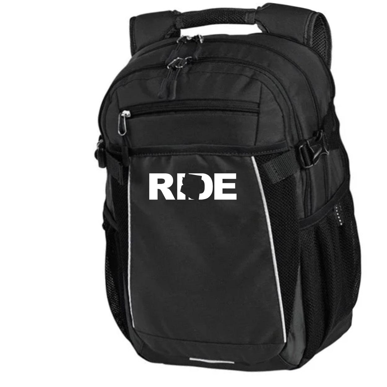 Ride Arizona Classic Pro Pioneer Backpack Black (White Logo)