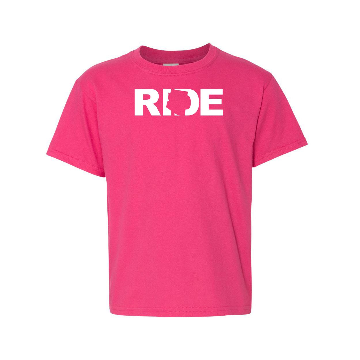 Ride Arizona Night Out Youth T-Shirt Pink (White Logo)