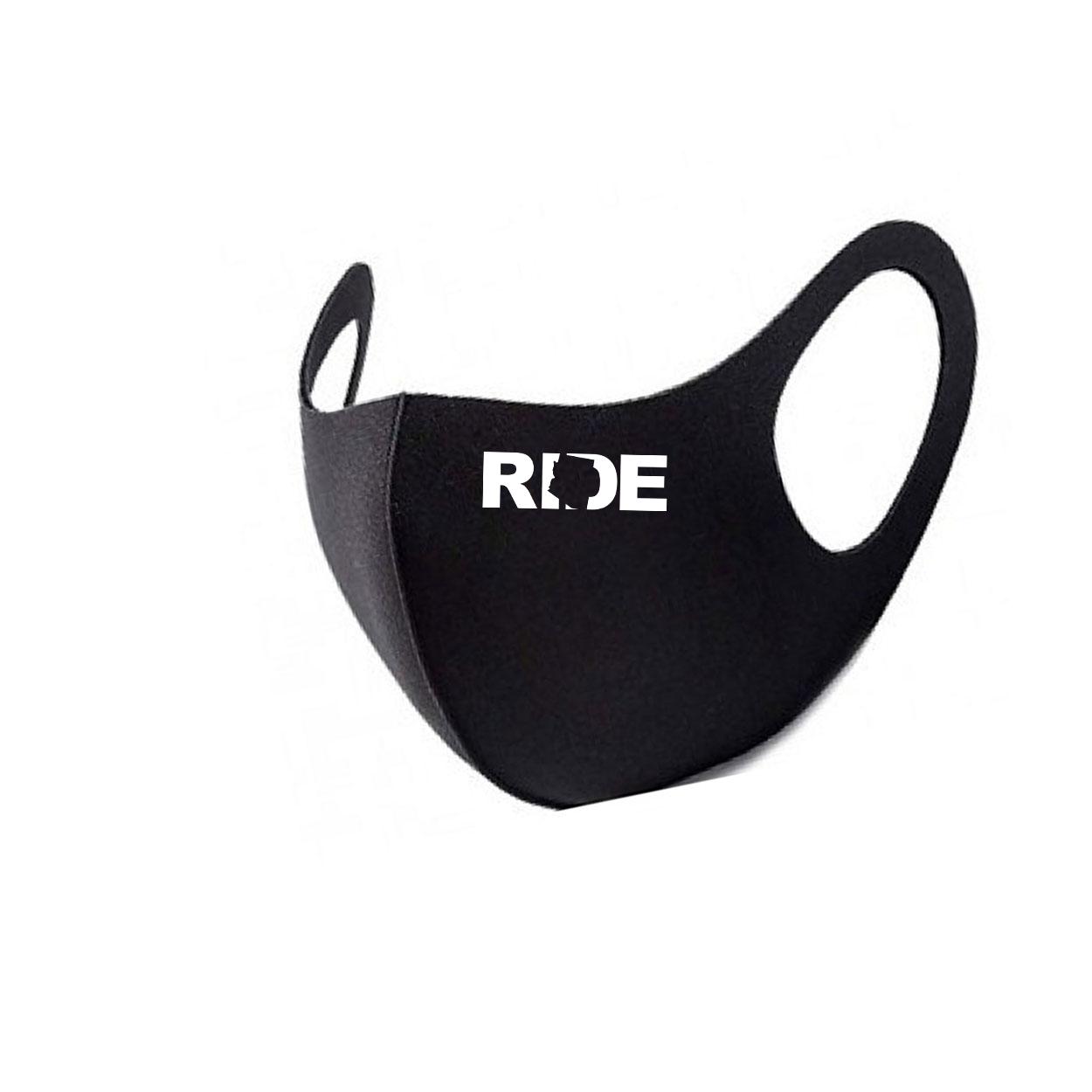 Ride Arizona Night Out Fitted Washable Face Mask Black (White Logo)