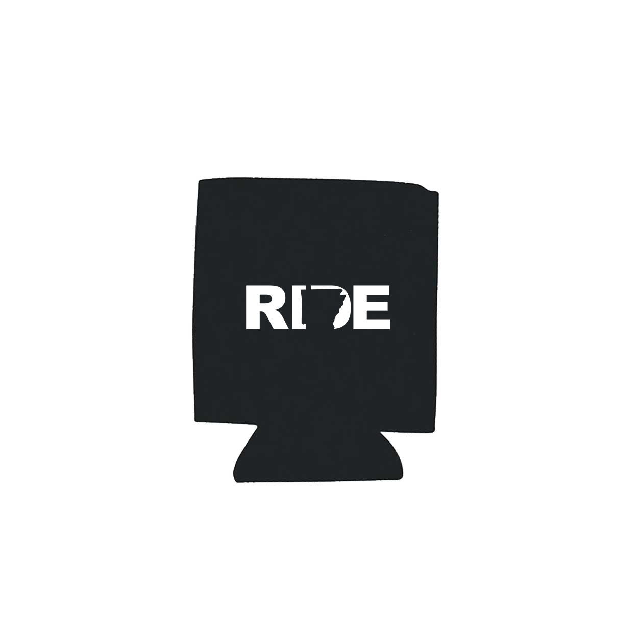 Ride Arkansas Koozie Black (White Logo)