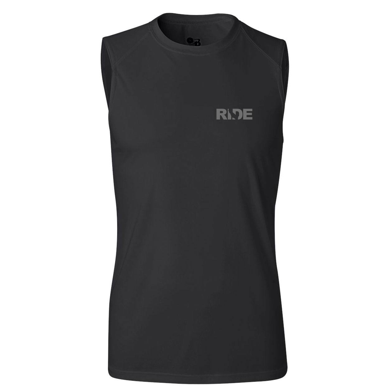 Ride California Night Out Unisex Performance Sleeveless T-Shirt Black (Gray Logo)