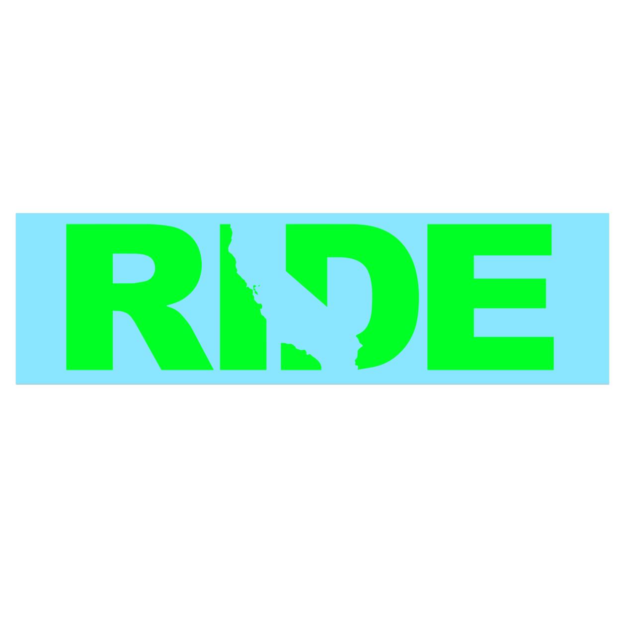 Ride California Classic Decal (Green Logo)