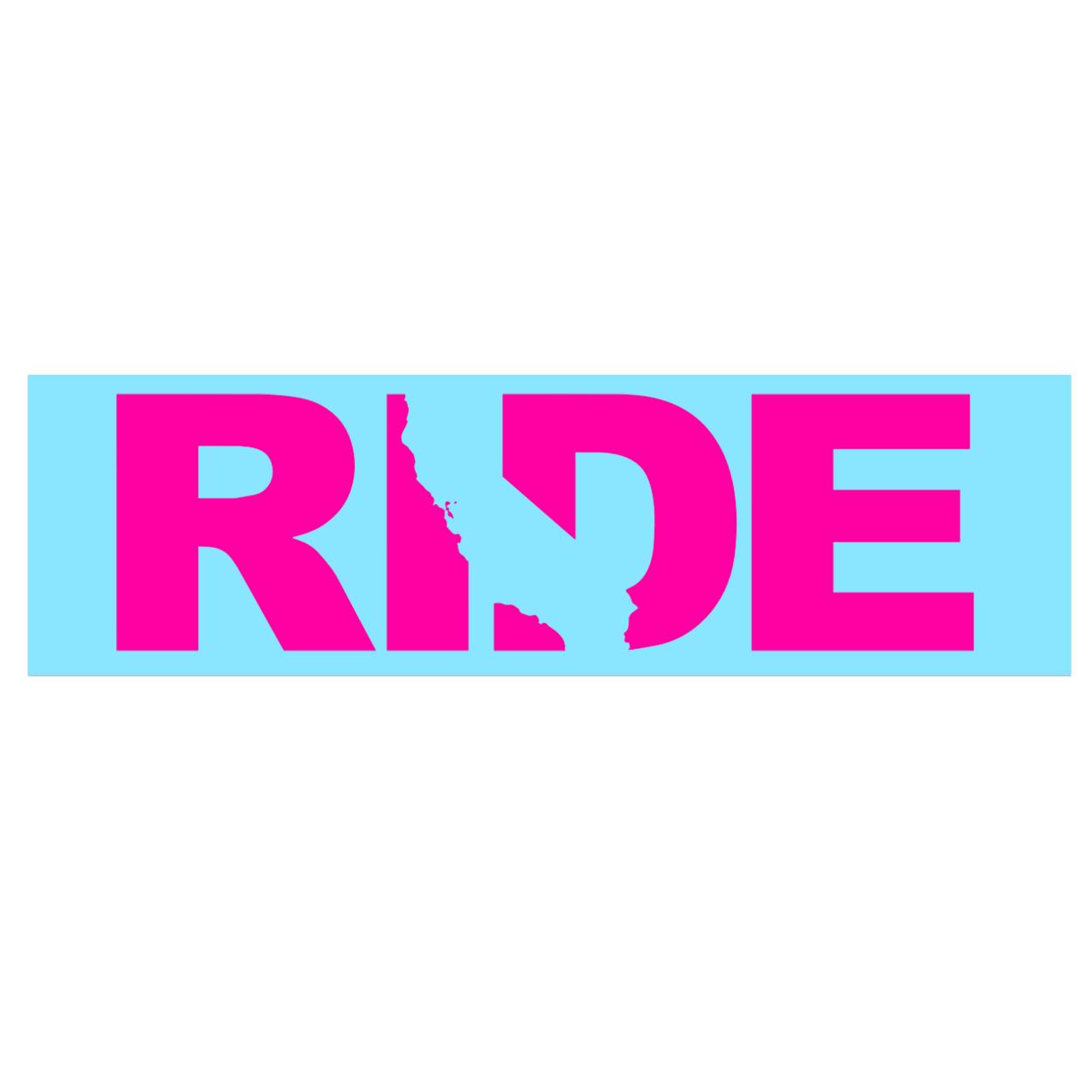 Ride California Classic Decal (Pink Logo)