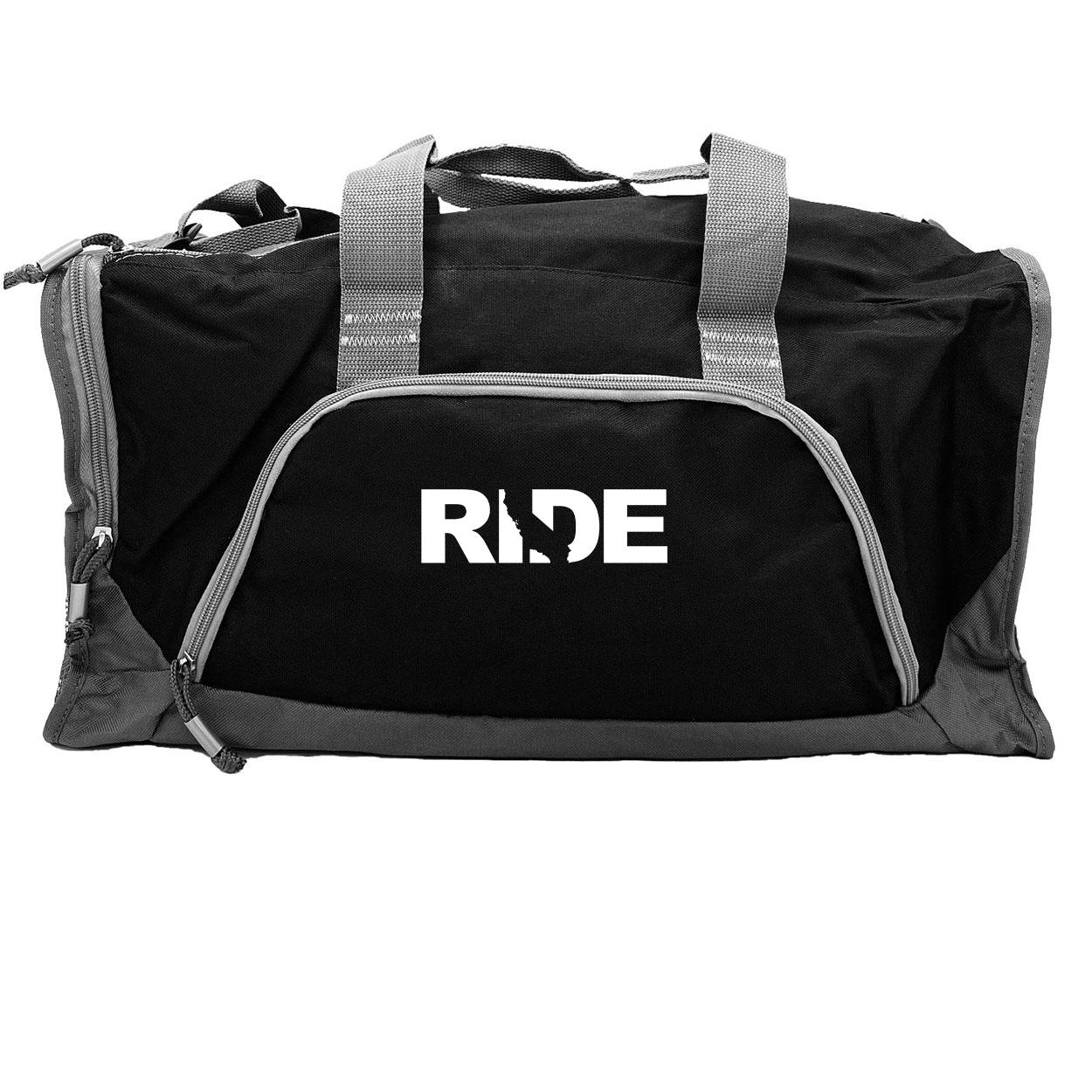 Ride California Classic Rangeley Sport Duffel Bag Black (White Logo)