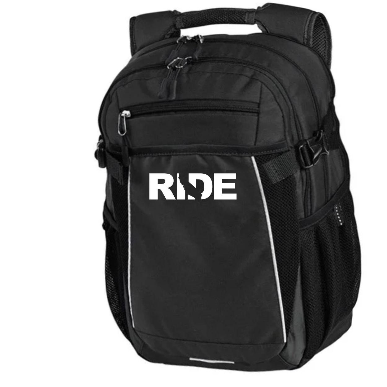 Ride California Classic Pro Pioneer Backpack Black (White Logo)
