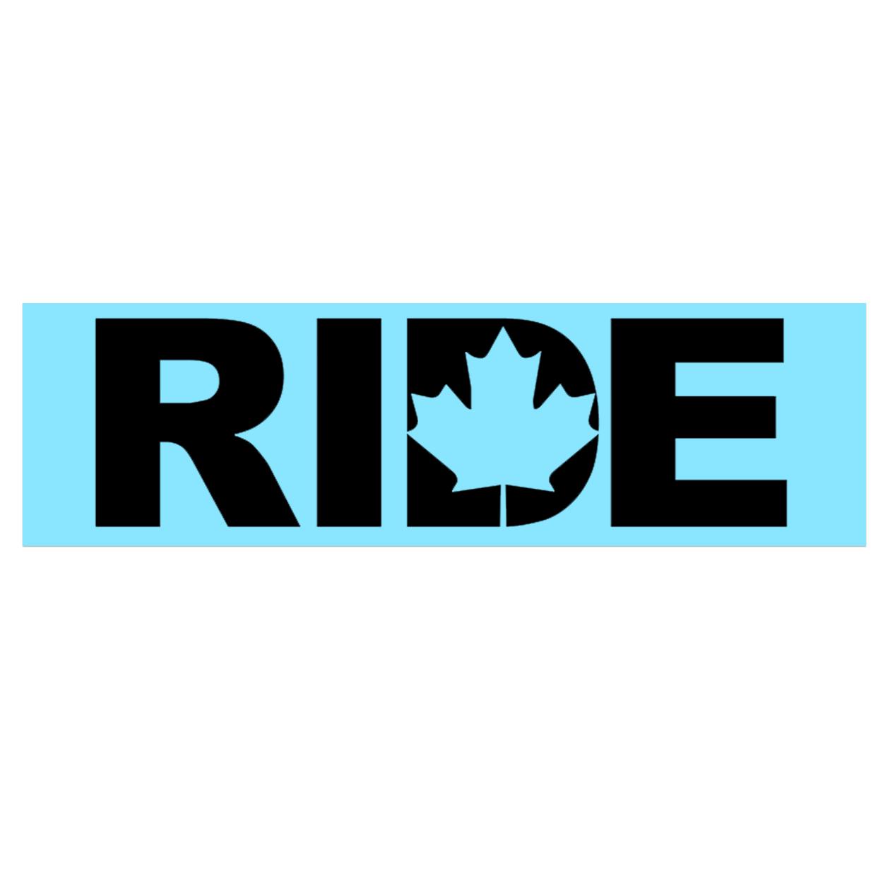 Ride Canada Classic Decal (Black Logo)