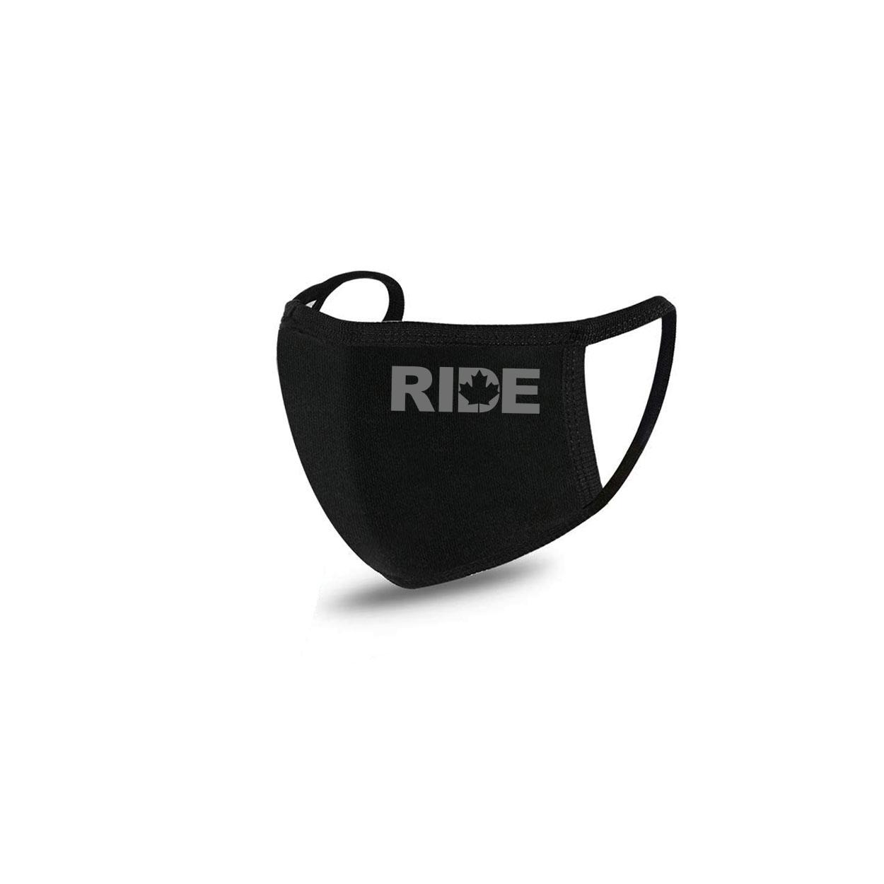 Ride Canada Standard Washable Face Mask Black (Gray Logo)