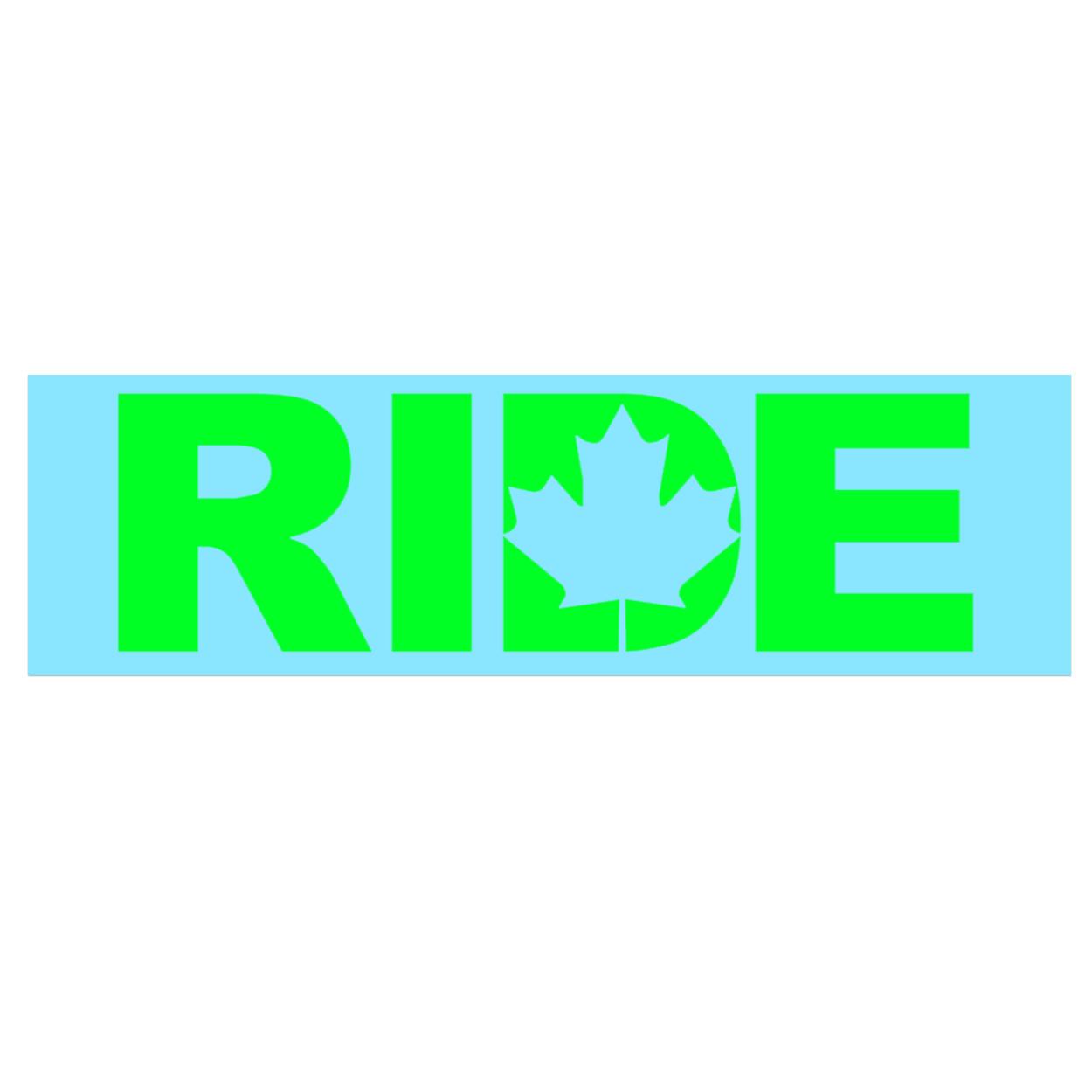 Ride Canada Classic Decal (Green Logo)