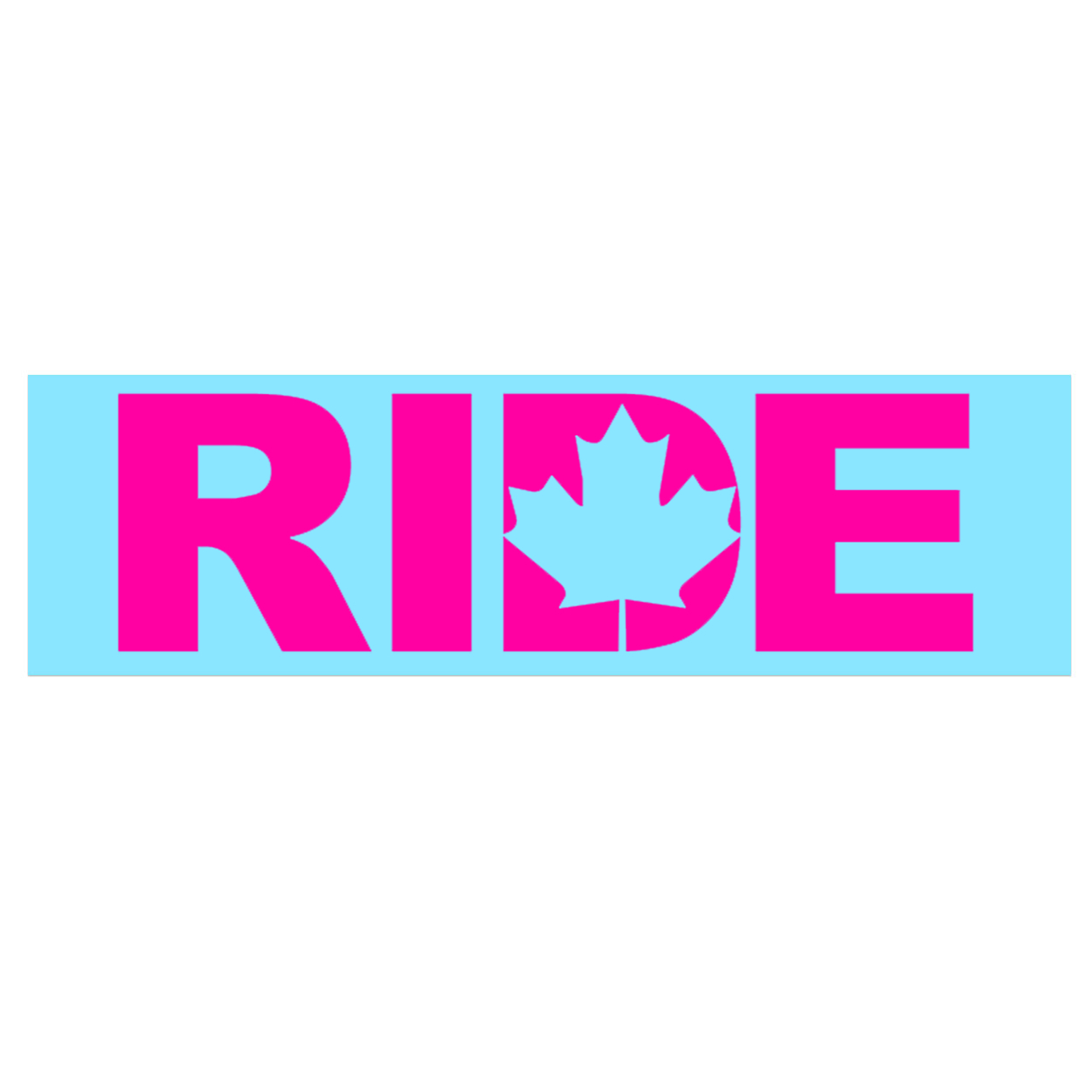 Ride Canada Classic Decal (Pink Logo)