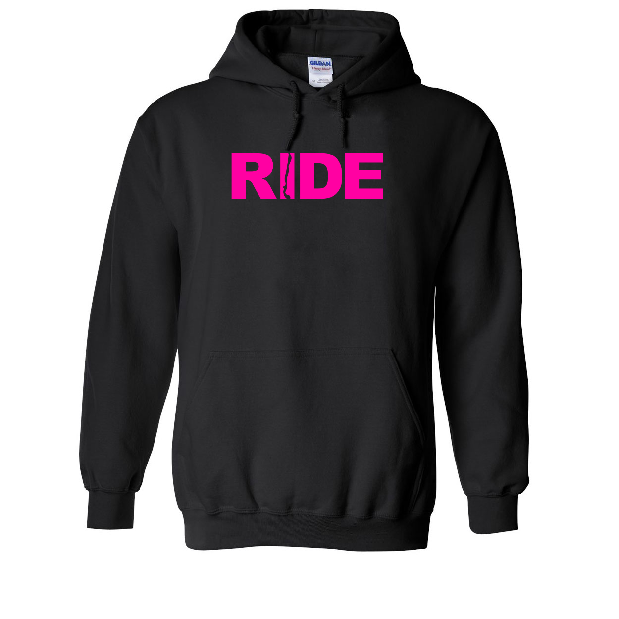 Ride Chile Classic Sweatshirt Black (Pink Logo)