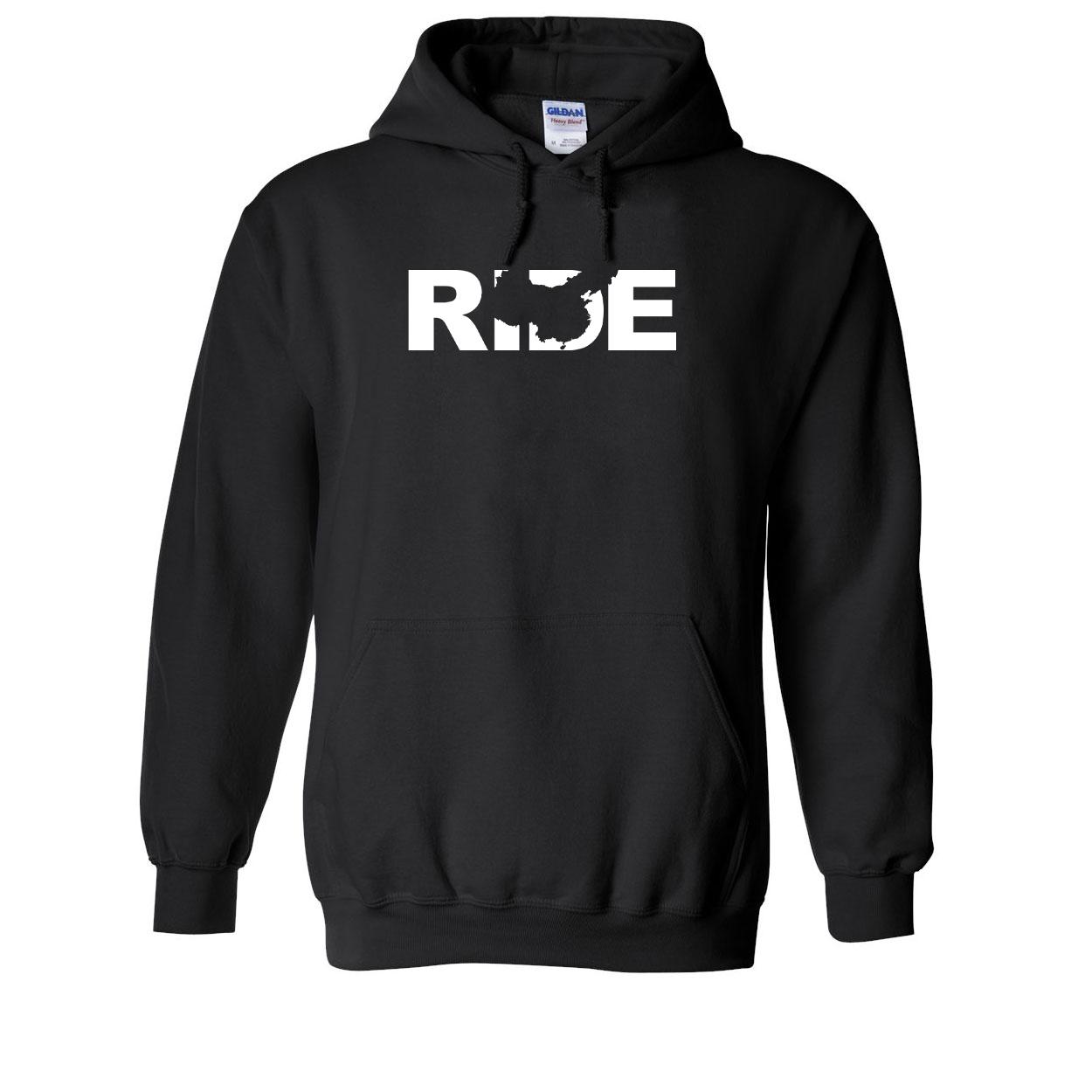 Ride China Classic Sweatshirt Black (White Logo)