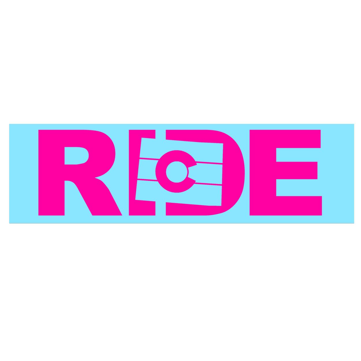 Ride Colorado Classic Decal (Pink Logo)