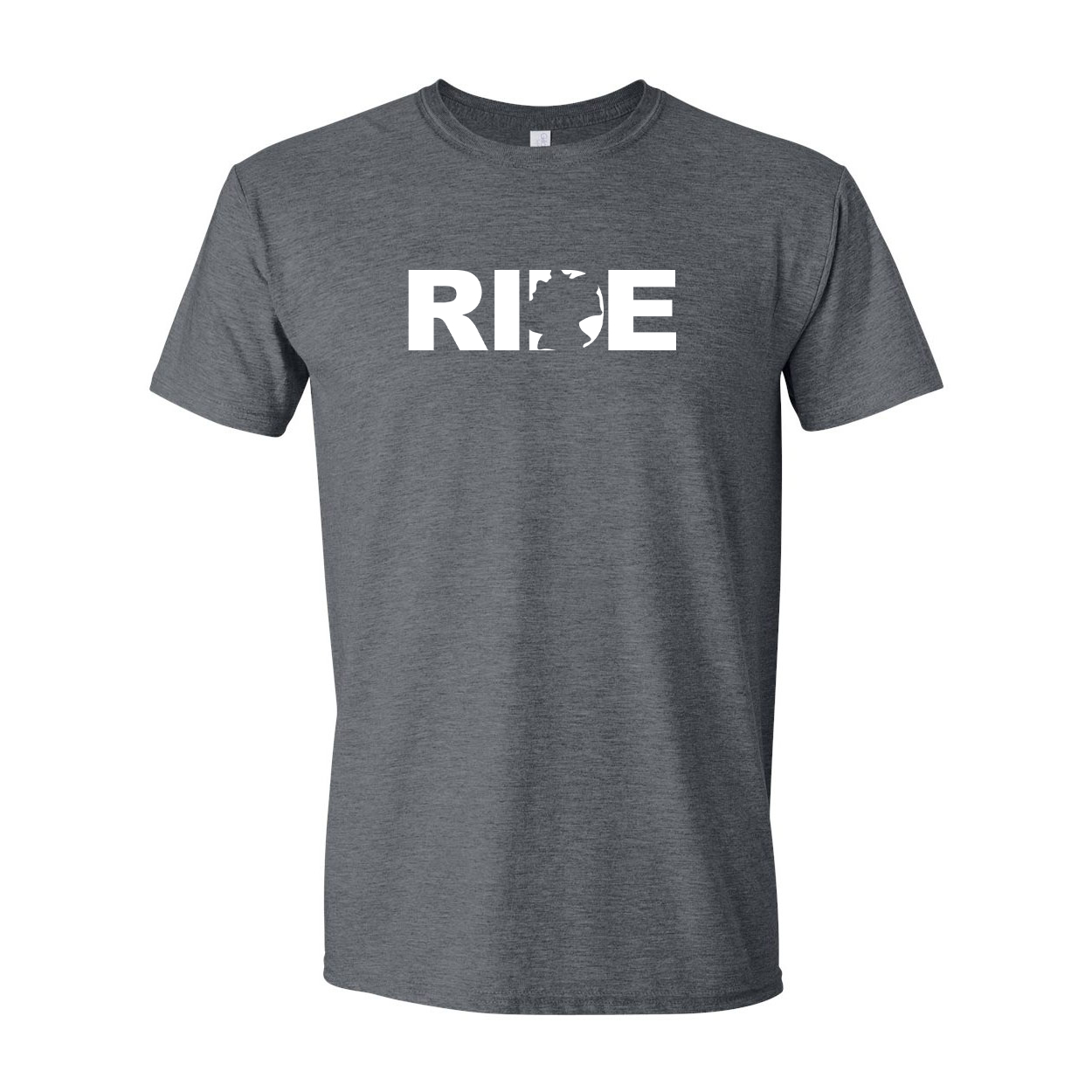 Ride Germany Classic T-Shirt Dark Heather Gray (White Logo)